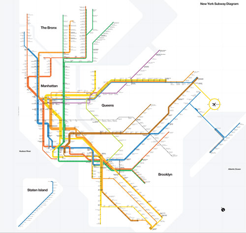 New York Subway Map 2008.Vignelli S 2008 Nyc Subway Map Requiem4adream S Blog
